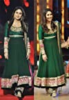 Bollywood Kareena Kapoor Green Anarkali Suit