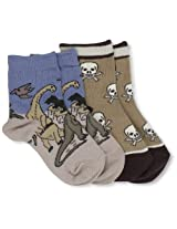 Country Kids Baby Boys' Triassic Skull 2 Pair Socks