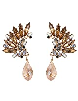 Cinderella Collection By Shining Diva Champagne Crystal Drop Earrings