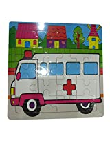 DCS Wooden Ambulance Puzzles (6X6 IN)
