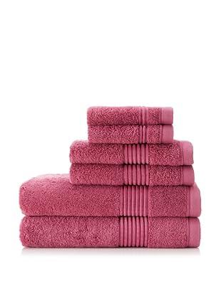 Chortex Ultimate 6-Piece Towel Set, Rose Wine