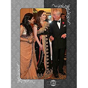 Bollywood Replica Nita Ambani 60 GM Georgette Saree In Black and Gold Colour NC396