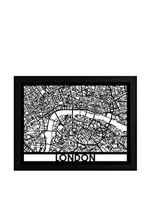 Cut Maps London Framed 3-D Street Map