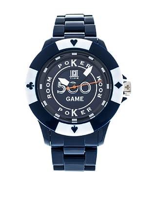 Light Time Reloj Poker Azul / Blanco