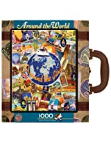 MasterPieces Around The World Suitcase Jigsaw Puzzle, 1000-Piece