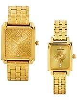 Sonata Analog Champagne Dial  Pair Watch - 70538080YM01