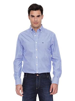 Pedro del Hierro Camisa Non Iron Raya Blanca F.Color (Azul Marino)