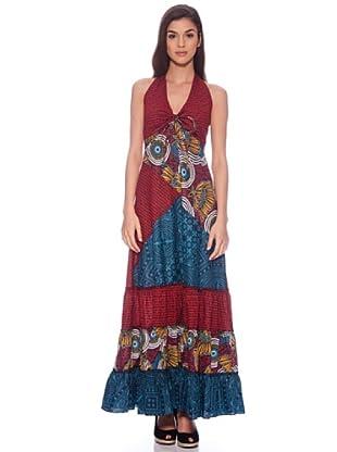Sigris Vestido (Rojo / Azul)