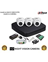 DAHUA HDCVI 4CH DH-HCVR4104C-S2 DVR + DAHUA HDCVI DH-HAC-HDW1000RP DOME CAMERA 3Pcs + 1 TB WD HDD + 3+1 COPPER CABLE + POWER SUPPLY (FULL COMBO)
