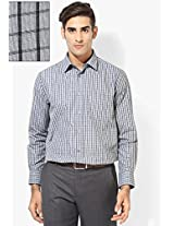 Black Checks Regular Fit Formal Shirt Peter England