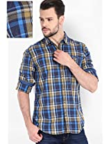 Checked Beige Casual Shirt