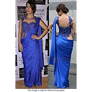 Bollywood Replica Sophie Choudry Silk Georgette Saree In Blue Colour NC731
