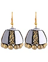 Scorched Earth Mita Terracotta Jhumkas SEE74a01 Grey Ceramic Jhumki For Women