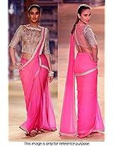Bollywood Replica Sarees Ileana D'Cruze Pink Rose By Namo House