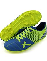 Vector X Football Studs Volt Outdoor Blue/Parrot-Green (Ind/Uk 11)