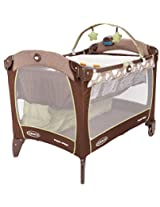 Graco Playard with Newborn Napper Satation DLX - Roundabout (Brown/Green)