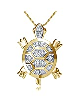 Vorra Fashion 14 K Gold-Plated Pendant For Women (Yellow)