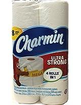 Charmin Ultra Strong Mega Rolls, 8 ct, 308 2- Ply Sheets Per Roll