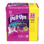 Pull-Ups Night Time Training Pants for Girls, 2T-3T, 48 Count (Pack of 2)
