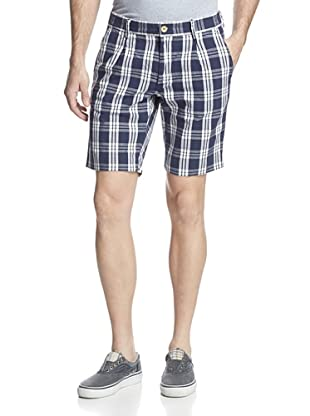 GANT Rugger Men's Oxford Window Check Shorts (Harbour Navy)