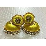 Yellow Fashion Jhumki Earring