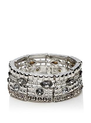 LK Designs Slim Elastic Bracelet, Silver