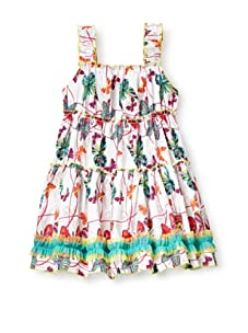 Beetlejuice Girl's 2T-6X Butterfly Kisses Tiered Dress (Print)