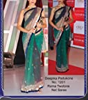 Stylelok Bollywood Dressing Deepika Green Saree|Color Green