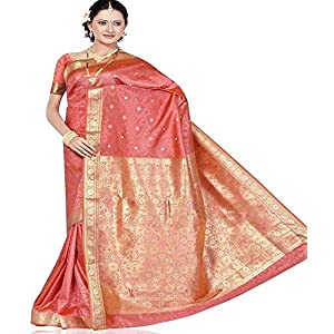 Beautiful Silk Saree 285 (Peach)