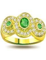 0.32Ct Diamond & Emerald Ring SDR1118