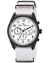 Lucien Piccard Men's LP-10588N-BB-02 Moderna Analog Display Japanese Quartz White Watch