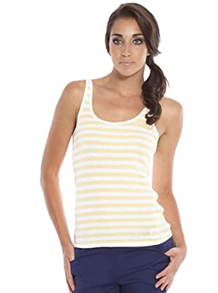 PEDRO DEL HIERRO Camiseta Tirantes (Blanco / Amarillo)