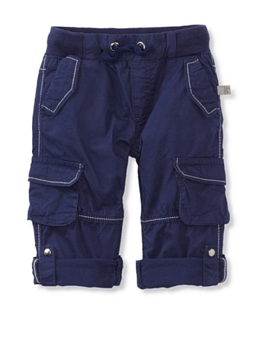 KANZ Baby Rolled-Up Cargo Pants (Blue)