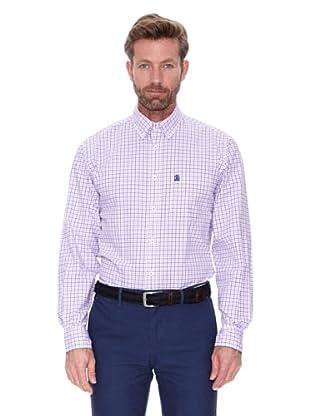 Cortefiel Camisa Cuadro Pequeño Color (Rosa)