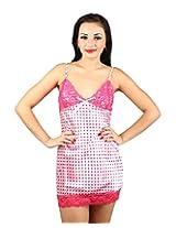 Nitein Women's Babydoll Dress (Pink_Free Size)