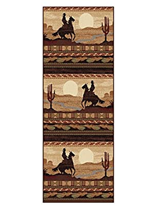 Universal Rugs Nature Lodge Runner, Beige, 3' x 8'