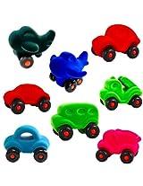 Rubbabu Little Vehicles Assortment display of 8