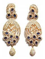 Shingar Ksvk Jewels Cubic Zirconia Earrings Danglers For Women (9071-ead-blue)