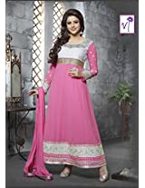 Kashish Pink Semi Stiched Designer Anarkali Suit