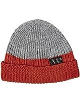 Diesel Baby Boys' Felity Ribbed Acrylic Hat - Orange - One Size