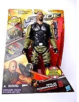 G.I. Joe Retaliation - Ninja Commando Roadblock with Weapon Accessories and Sound - Speaks English (