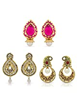 Designer Gold Plated Beautiful Earrings for Women Combo-2289