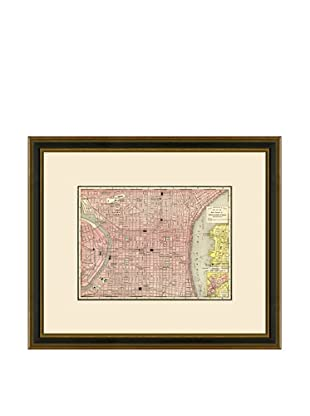 Antique Lithographic Map of Philadelphia, 1886-1899