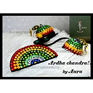AUrA-EArTH Ardhachandra jewellery Set