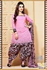 Black Light Pink Casual Patiala Salwar Suit