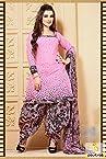 Black Light Pink Casual Patiala Salwar Suit