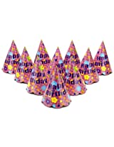 Karmallys Printed Paper Caps With Happy Birthday Flower Print - 15 cm