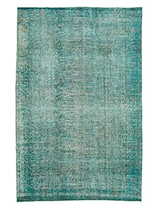 eCarpet Gallery One-of-a-Kind Hand-Knotted Color Transition Rug, Teal, 5' 5