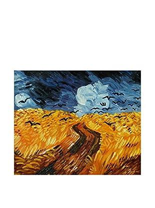 Arte Dal Mondo Ölgemälde auf Leinwand Van Gogh Campo Di Grano Con Corvi