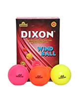 Dixon Unisex PVC Wind Ball Pack Of 6 (Black)